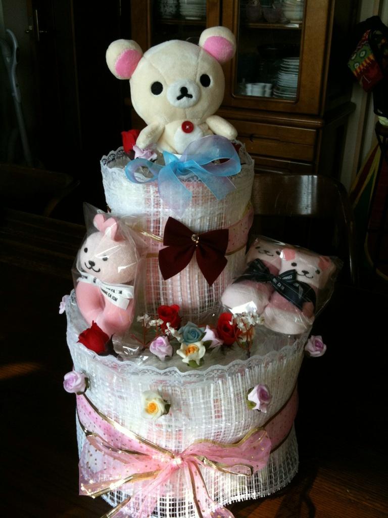 オムツのケーキ