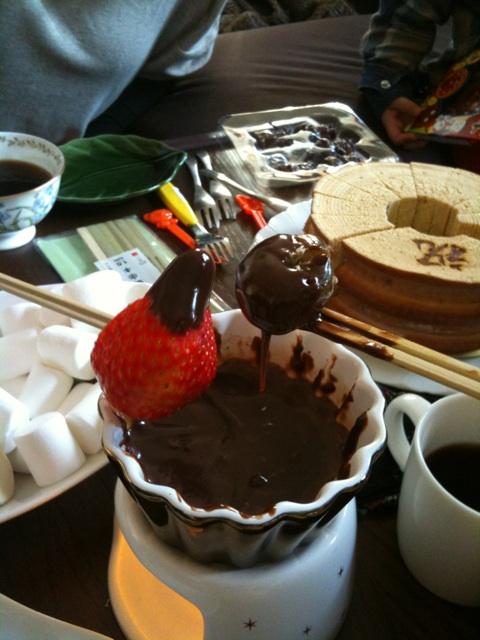 チョコレートフォンデュパーティー